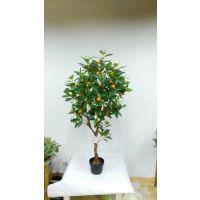 仿真橘子树 仿真年桔盆栽树 假橘子树节日仿真植物厂家直销