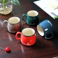 新品上市  ZAKKA经典仿搪瓷杯水杯 马克杯子  陶瓷杯 LOGO定制