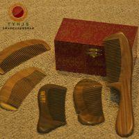 太阳红红木 木质工艺品木梳正品绿檀梳子保健按摩美妆梳厂家批发