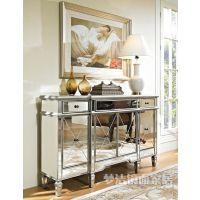 时尚现代简约欧式电视柜镜面家具KTV玻璃储藏柜餐边柜门厅柜定制