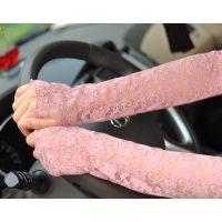 韩国新品女士夏季开车精致蕾丝半指长款防晒防紫外线薄款手套