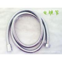 厂家直销 双扣热水器不锈钢淋浴花洒喷头软管1.5米透明内管软管