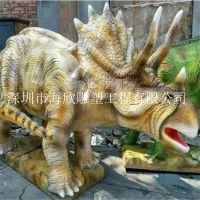 侏罗世纪公园仿真恐龙玻璃钢树脂雕塑 动物园生态园林模型景观动物雕塑摆件