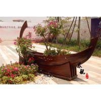 公园景观装饰船 欧式景观布置木船 一头尖装饰船 广场摆设装饰船