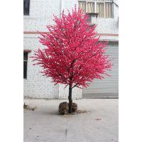 广州仿真桃花树 造型桃花树 大型室内艺术装饰仿真树