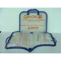 万顺定制塑料书包 加拿大英文手提包 龙华教育书包 车缝包边工艺