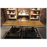 家有名木供应原生态艺术大板餐桌画案会议桌办公桌个性茶桌个性酒吧台厂家直销