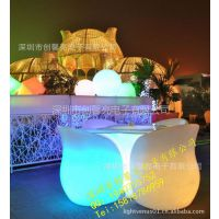 供应外贸原单 七彩闪光沙发 充电发光吧台 led家具 成套批发!