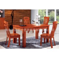 厂家直销新款全实木环保家具 木家具 木餐桌椅 家居餐厅实木桌子