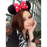 周扬青同款卖萌迪士尼米妮耳朵造型发箍米奇米老鼠发箍蝴蝶结发箍