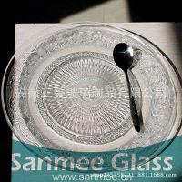 蚌埠工厂供应三美精美家用盘子 西式透明餐碟 高端 出口欧美