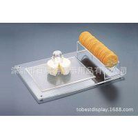 亚克力创意食物展示架/有机玻璃蛋糕展示架/压克力饼干展示方块