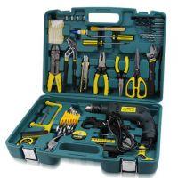 正品奥凯64件PC组合工具家用工具组合五金工具带电钻