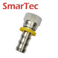 BSPT直通自锁扣压式内螺纹软管接头  宁波液压接头 余姚液压接头
