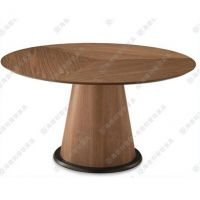 欧式家具定做 高档实木咖啡桌 蘑菇状拼色圆桌 办公室洽谈桌