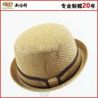 韩版夏天女士遮阳帽磨边拉菲草帽女帽大檐沙滩高端绅士定型礼帽