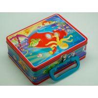 厂家定制直销 手挽铁盒 午餐食品包装铁盒 儿童玩具铁盒 马口铁盒 小量批发