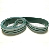 绿色输送带加导条PVC传送带 特殊加工双导条耐磨耐高温印刷机皮带