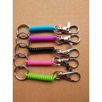 厂家批发精品塑胶弹簧绳,失手绳,防丢钥匙扣,工具失手绳