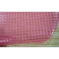 0.55mm粉红色透明防水PVC夹网布水池面料 KBD-A-136