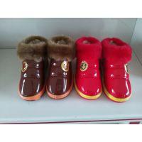 冬季***新款儿童棉鞋带毛毛小白兔