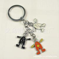 【厂家供应】金属动漫人物系列钥匙扣,手机绳小挂件情侣钥匙扣