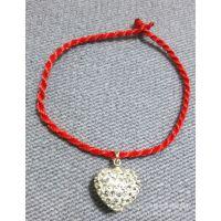 香巴拉心形挂件红绳手链 韩版韩国 饰品批发中国风本命年
