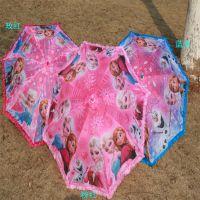冰雪奇缘索菲亚佩佩猪西泽女孩雨伞花边直杆女孩雨伞 儿童雨伞
