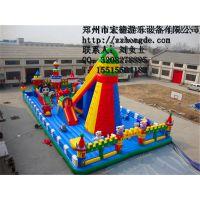 供应CQCB充气城堡,造型新颖,郑州宏德游乐设备气堡