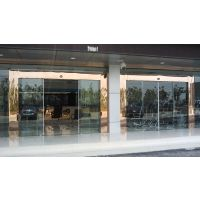 江门蓬江区维修感应玻璃门,商场自动感应门定做18027235186