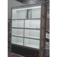 展示柜烤漆加工、天津眼镜店装修设计、现场测量