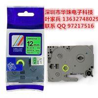 兄弟国产色带TZ2-731 线缆电缆标签 12mm绿底黑字色带纸