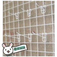 白色货品展示挂件网片 铁丝网格移动展示网片 广州穗安丝网厂家