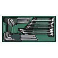 09906 世达SATA 工具托组套-30件两用扳手及内六角扳手