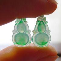有利珠宝 天然缅甸翡翠A货葫芦 有色有种其荧光 可镶嵌吊坠