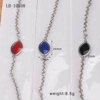 韩国韩版时尚OL优雅滴胶 多色滴油不锈钢椭圆手链钛钢饰品