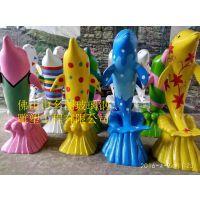 海洋主题展览玻璃钢雕塑动物造型海豚定制商场活动装饰