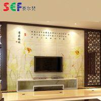 生产瓷砖背景墙的厂家专业供应 清荷雅韵闪光背景墙