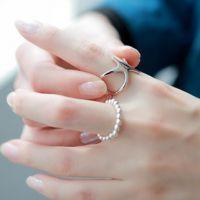 日韩时尚唯美精致简约OL气质海星女款开口戒指戒环感恩回馈特价