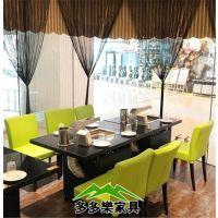 韩国火锅涮烤一体桌椅 韩式无烟涮烤桌子 火锅烧烤一体餐桌