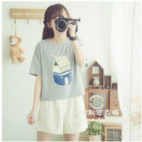 牛奶纸盒宽松中袖t恤女原宿日式夏季新款小M私家衣橱
