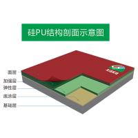 供应东莞厂家环保无毒硅PU塑胶篮球场材料及施工