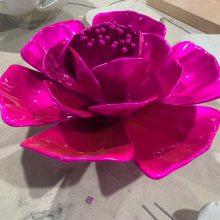 玻璃钢仿真月季花 树脂花雕塑 深圳玫瑰海岸玻璃钢月季花摆件