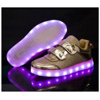 七彩USB充电鞋灯