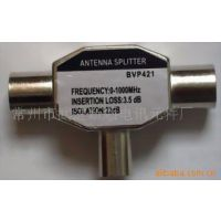 厂家专业生产锌合金9.5TV二母对一公有线电视转换头,插头