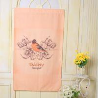 韩式布艺成品 门帘 定做 卧室厨房半 窗帘定制图案logo 一件代发