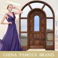 高档拱形门简约实木门 加工定制豪华别墅木门厂家奢华装饰木门