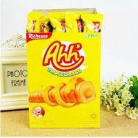 批发印尼那巴提纳宝帝Richeese丽芝士雅嘉奶酪玉米棒400g1箱*12盒
