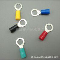 厂家直销圆形铜线鼻子 圆形预绝缘端子 RV1.25-8冷压接线端子