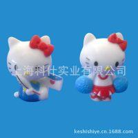 上海玩具厂 【来图加工】塑料树脂工艺品多色Kity猫摆件 手机挂件